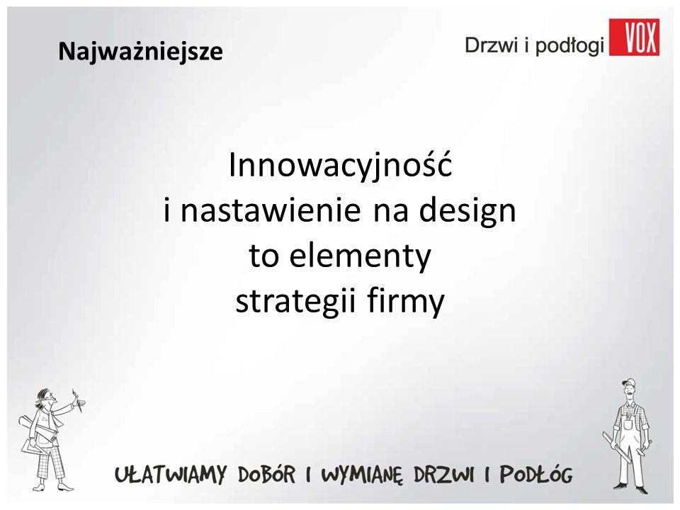 Najważniejsze Innowacyjność i nastawienie na design to elementy strategii firmy