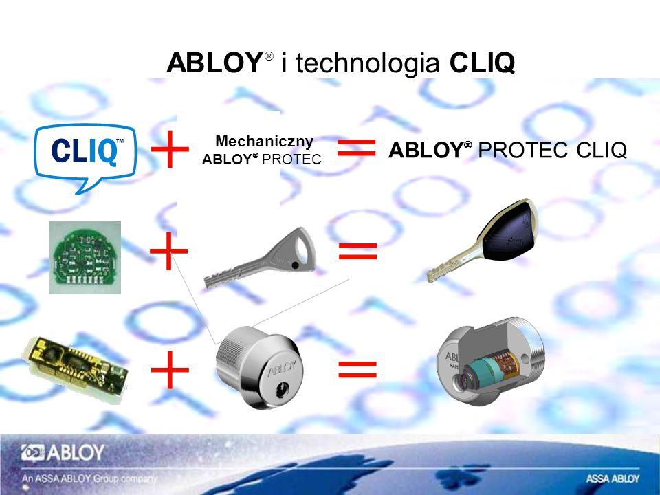 ABLOY PROTEC CLIQ - klucze Klucz użytkownika Zwykły klucz użytkownika z zegarem Dokładność +/- 1 min na miesiąc System ma przynajmniej jeden klucz programujący Max.