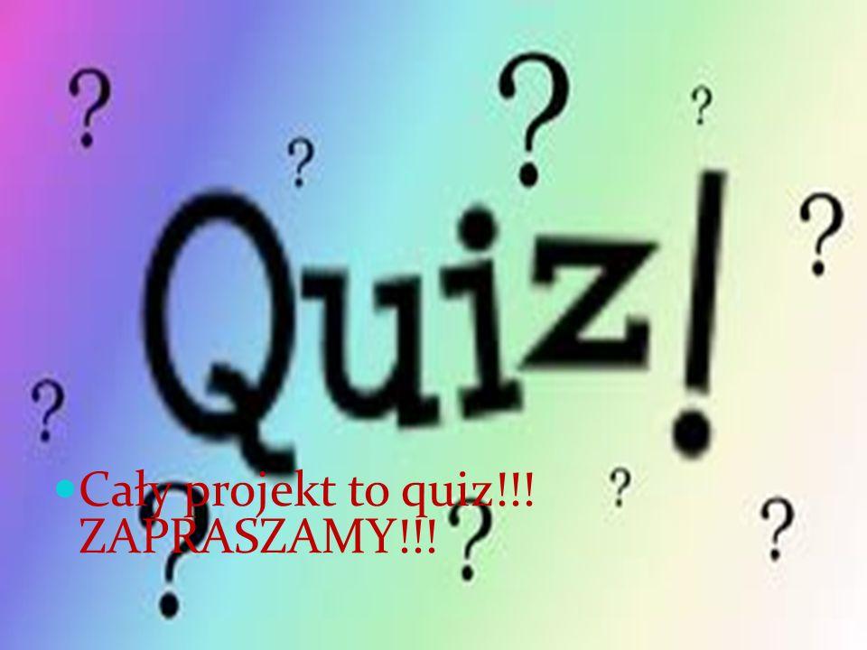 Quiz Cały projekt to quiz!!! ZAPRASZAMY!!!