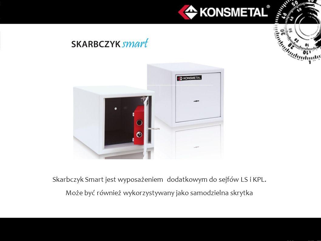 Skarbczyk Smart jest wyposażeniem dodatkowym do sejfów LS i KPL. Może być również wykorzystywany jako samodzielna skrytka