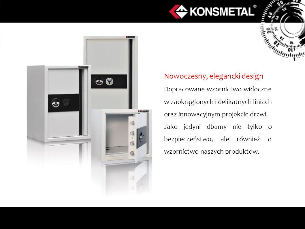Nowoczesny, elegancki design Dopracowane wzornictwo widoczne w zaokrąglonych i delikatnych liniach oraz innowacyjnym projekcie drzwi.
