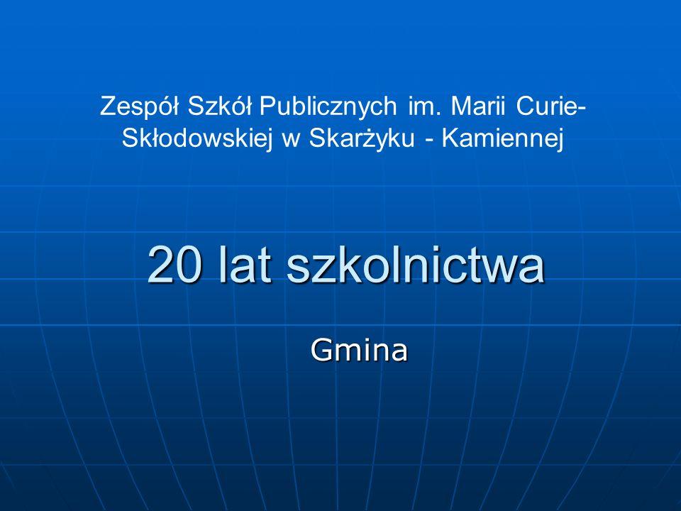 20 lat szkolnictwa Gmina Zespół Szkół Publicznych im.