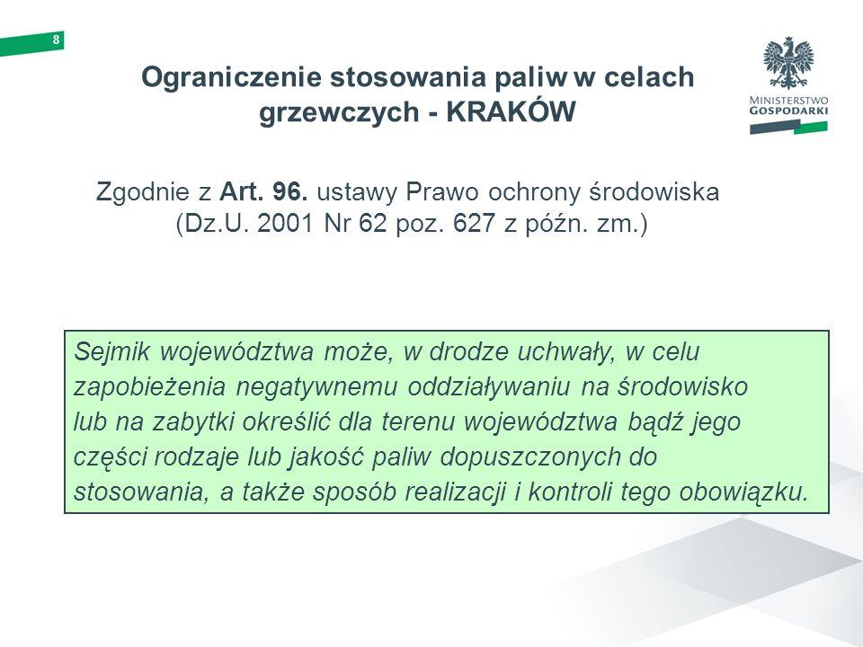 9 Struktura zanieczyszczenia powietrza na obszarze Polski W ponad 90% stref Polski odnotowano przekroczenie standardu m.in.