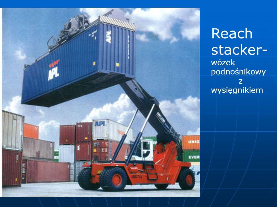 Reach stacker- wózek podnośnikowy z wysięgnikiem