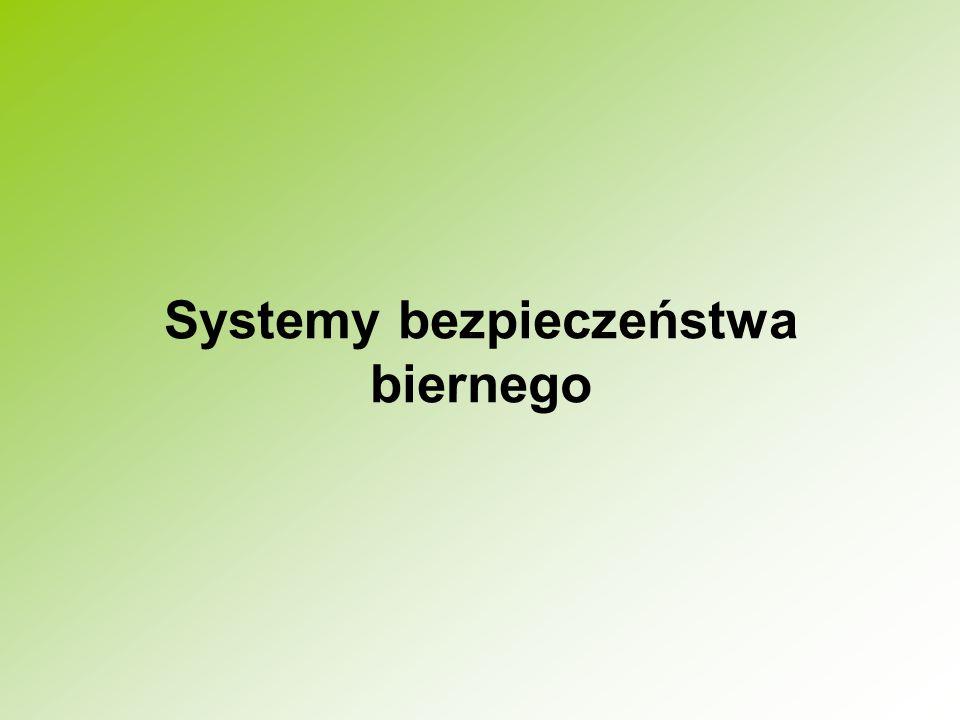 Systemy bezpieczeństwa biernego