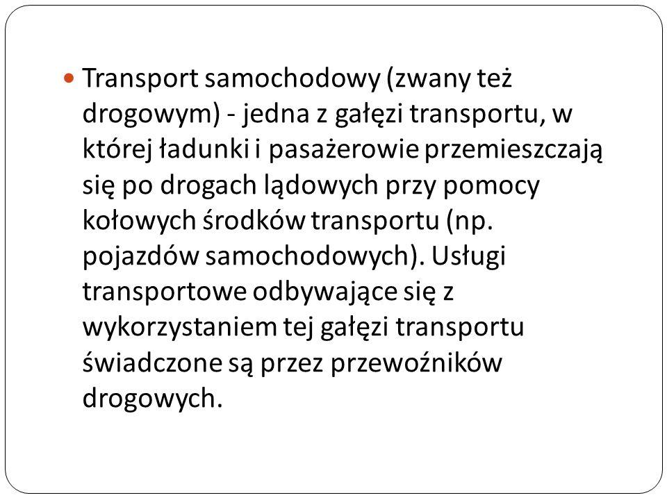 Do zalet transportu drogowego zalicza się m.in.