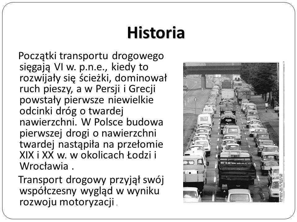 Infrastruktura Infrastrukturę transportu samochodowego podzielić można analogicznie jak infrastruktury innych gałęzi transportu na infrastrukturę liniową (drogi) i punktową – np.