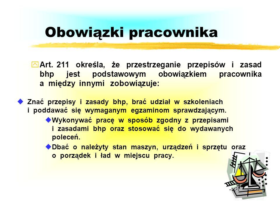 Obowiązki osób kierujących pracownikami Organizować stanowiska pracy zgodnie z zasadami bhp, Organizować, przygotowywać i prowadzić prace uwzględniają