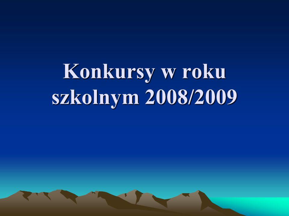 Konkursy w roku szkolnym 2008/2009