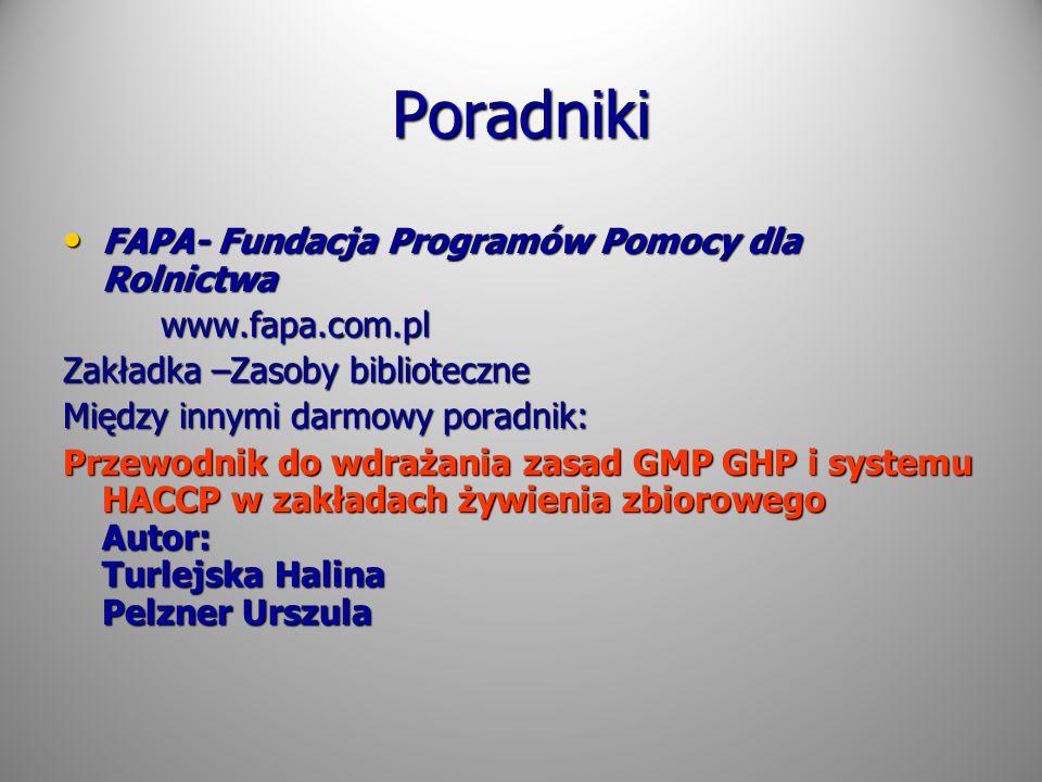 Poradniki FAPA- Fundacja Programów Pomocy dla Rolnictwa FAPA- Fundacja Programów Pomocy dla Rolnictwa www.fapa.com.pl www.fapa.com.pl Zakładka –Zasoby