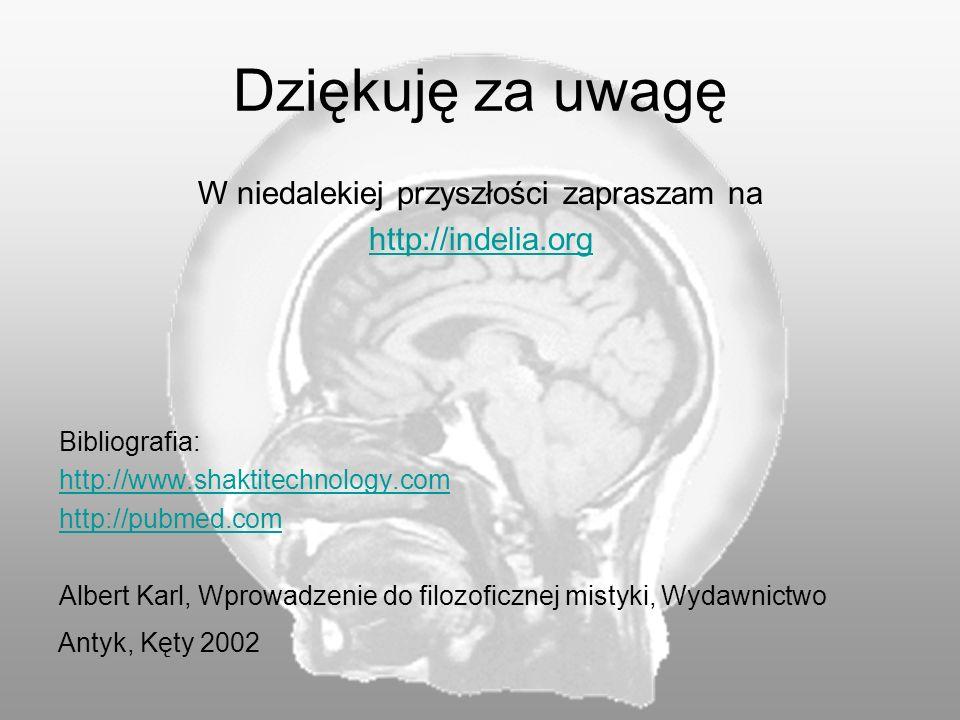 Dziękuję za uwagę W niedalekiej przyszłości zapraszam na http://indelia.org Bibliografia: http://www.shaktitechnology.com http://pubmed.com Albert Kar