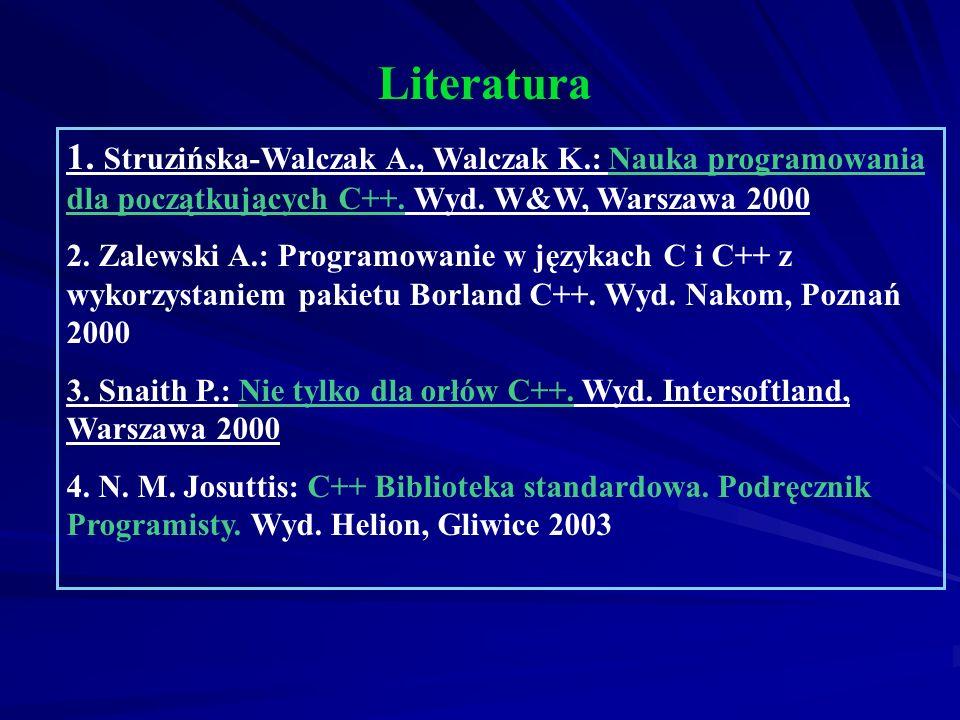 Autorami pierwszego standardu języka C są Kernighan i Ritchie Bjarne Stroustrup z Laboratorium Bella firmy AT&T jest twórcą C++ - początek lat 80