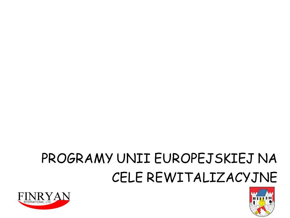 7 PROGRAMY UNII EUROPEJSKIEJ NA CELE REWITALIZACYJNE