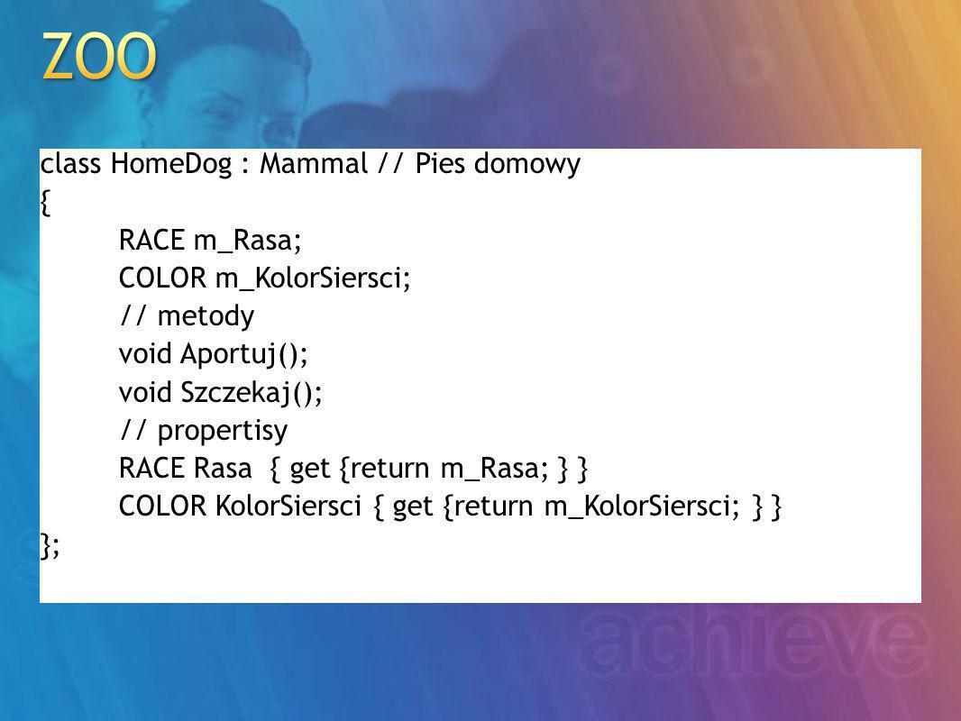 // klasa bazowa class ChessPiece { /* definicja */ }; // Figura szachowa // klasy pochodne class Pawn : ChessPiece { /*...