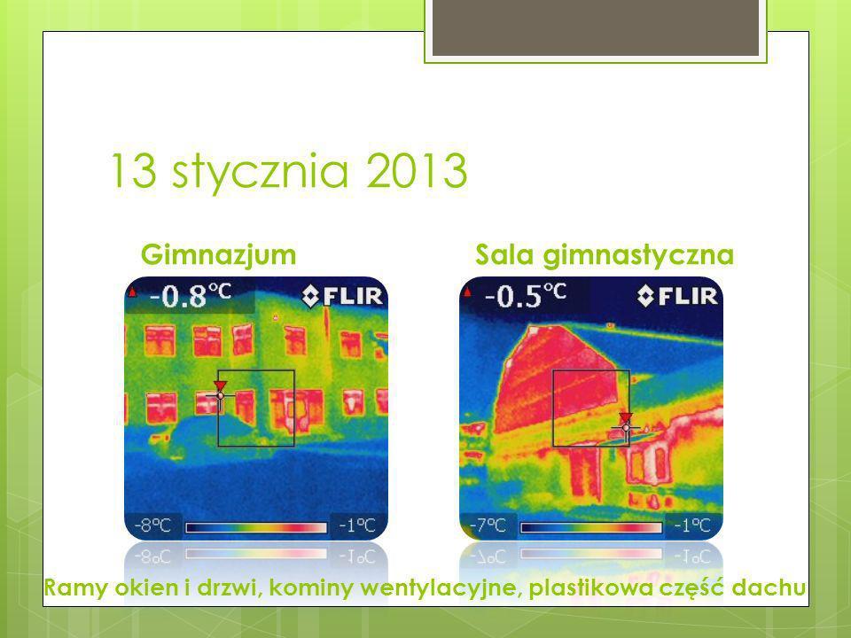 13 stycznia 2013 GimnazjumSala gimnastyczna Ramy okien i drzwi, kominy wentylacyjne, plastikowa część dachu