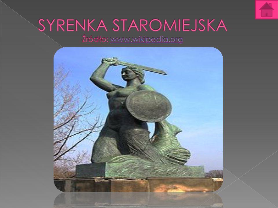 SYRENKA STAROMIEJSKA Syrenka stojąca na rynku Starego Miasta nawiązuje do legendy o założycielach Warszawy: rybaku Warsie i syrenie Sawie.