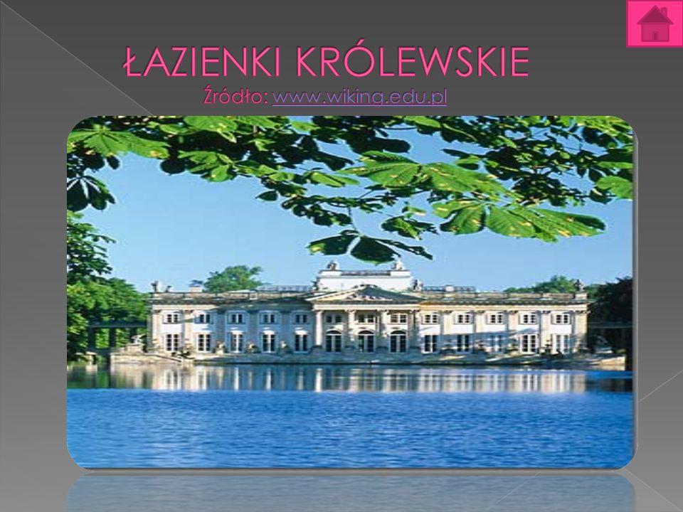 Łazienki Królewskie Łazienki Królewskie w Warszawie – zespół pałacowo-parkowy w Warszawie z licznymi zabytkami klasycystycznymi, założony w XVIII wieku z inicjatywy króla Stanisława Augusta Poniatowskiego.