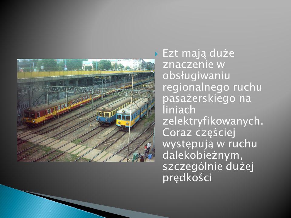 Ezt mają duże znaczenie w obsługiwaniu regionalnego ruchu pasażerskiego na liniach zelektryfikowanych. Coraz częściej występują w ruchu dalekobieżnym,