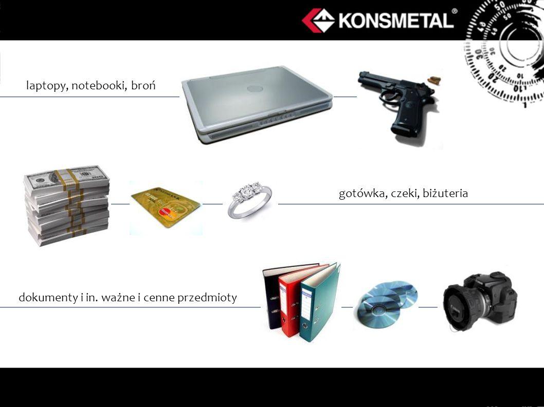 laptopy, notebooki, broń gotówka, czeki, biżuteria dokumenty i in. ważne i cenne przedmioty