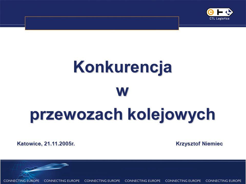 Konkurencjaw przewozach kolejowych Katowice, 21.11.2005r. Krzysztof Niemiec