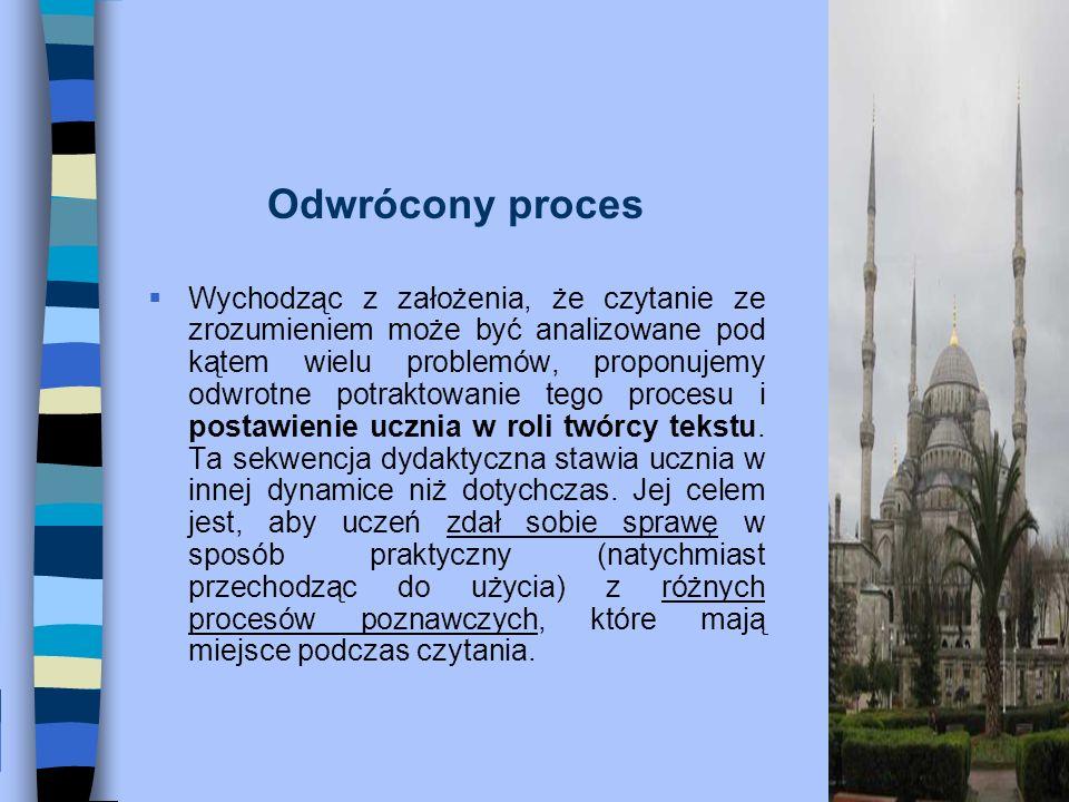 Kwestionariusz: Dotyczy metody i procesów poznawczych.