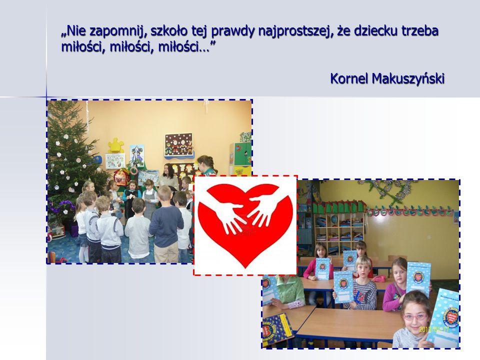 Nie zapomnij, szkoło tej prawdy najprostszej, że dziecku trzeba miłości, miłości, miłości… Kornel Makuszyński