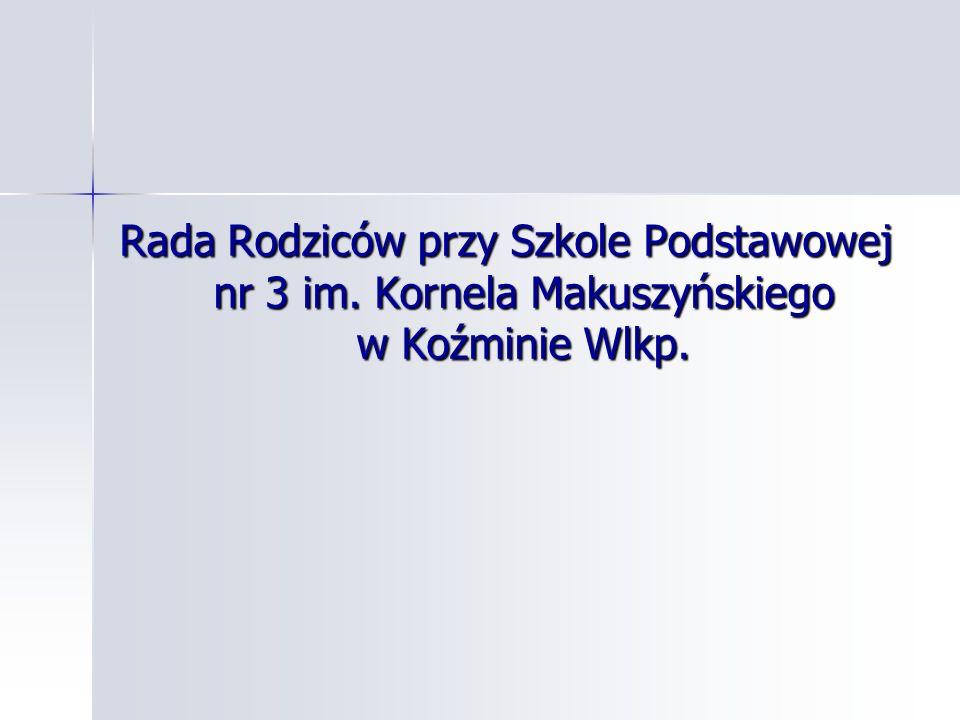 Rada Rodziców przy Szkole Podstawowej nr 3 im. Kornela Makuszyńskiego w Koźminie Wlkp.