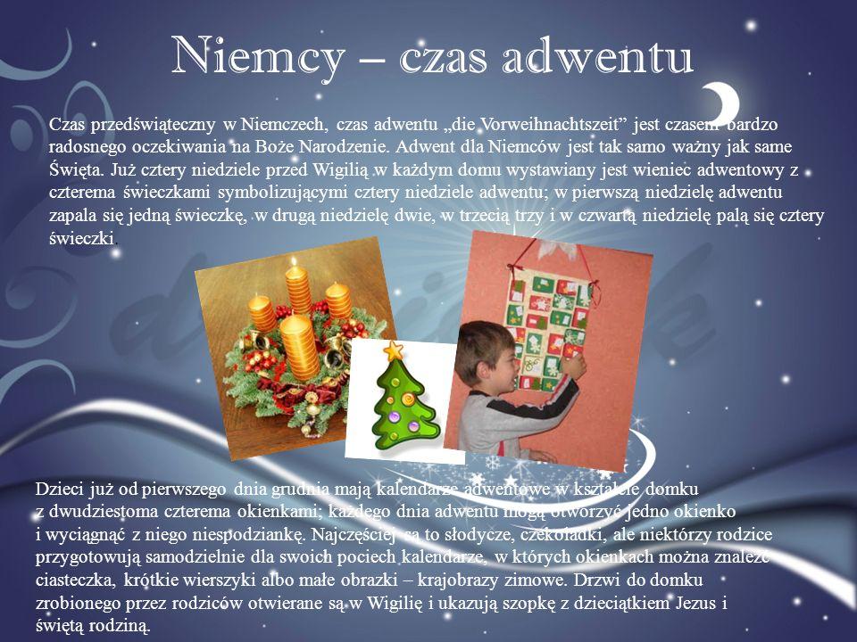 Niemcy – czas adwentu Czas przedświąteczny w Niemczech, czas adwentu die Vorweihnachtszeit jest czasem bardzo radosnego oczekiwania na Boże Narodzenie
