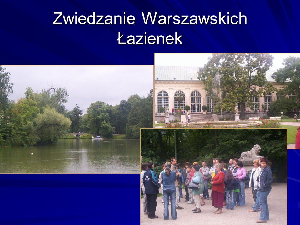 Zwiedzanie Warszawskich Łazienek