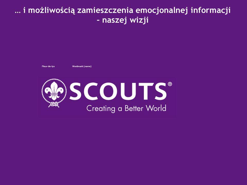 2007 – Scoutings Centenary Z informacją do regionalnego użycia Fleur-de-lysWordmark (name)
