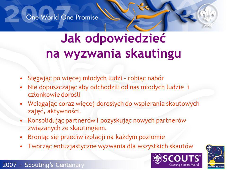 2007 – Scoutings Centenary O czym będziemy mówić.