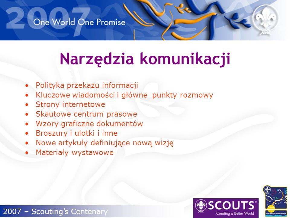 2007 – Scoutings Centenary Jak używać platformy marki.