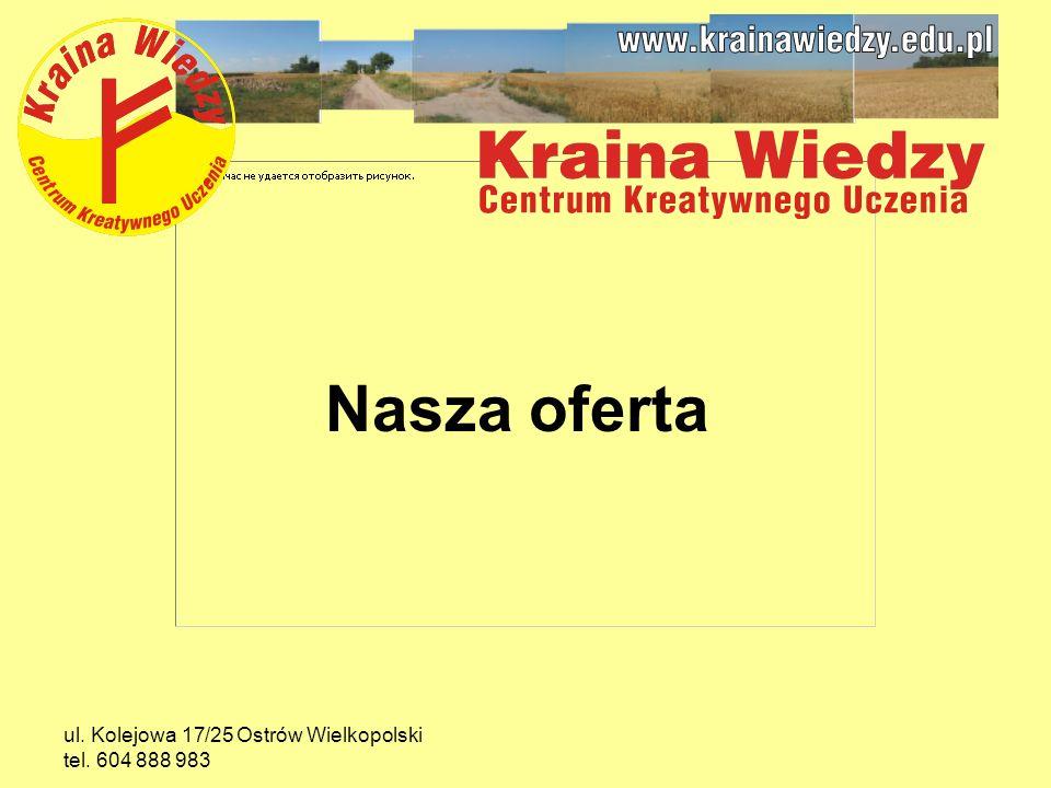 ul. Kolejowa 17/25 Ostrów Wielkopolski tel. 604 888 983 Nasza oferta