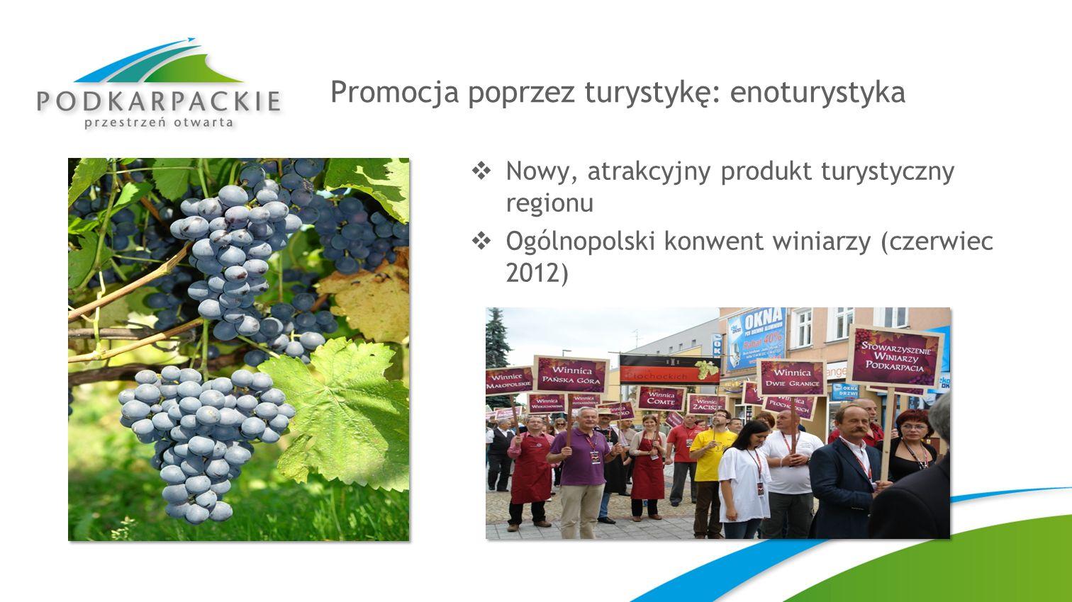 Promocja poprzez turystykę: enoturystyka Nowy, atrakcyjny produkt turystyczny regionu Ogólnopolski konwent winiarzy (czerwiec 2012)