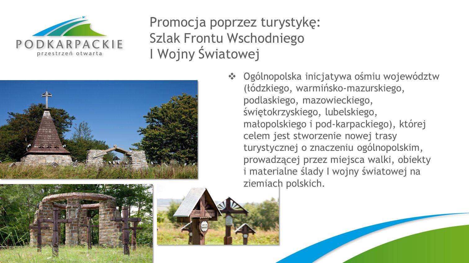Promocja poprzez turystykę: Szlak Frontu Wschodniego I Wojny Światowej Ogólnopolska inicjatywa ośmiu województw (łódzkiego, warmińsko-mazurskiego, pod