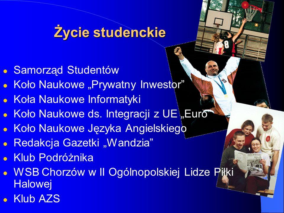 Życie studenckie Samorząd Studentów Koło Naukowe Prywatny Inwestor Koła Naukowe Informatyki Koło Naukowe ds. Integracji z UE Euro Koło Naukowe Języka