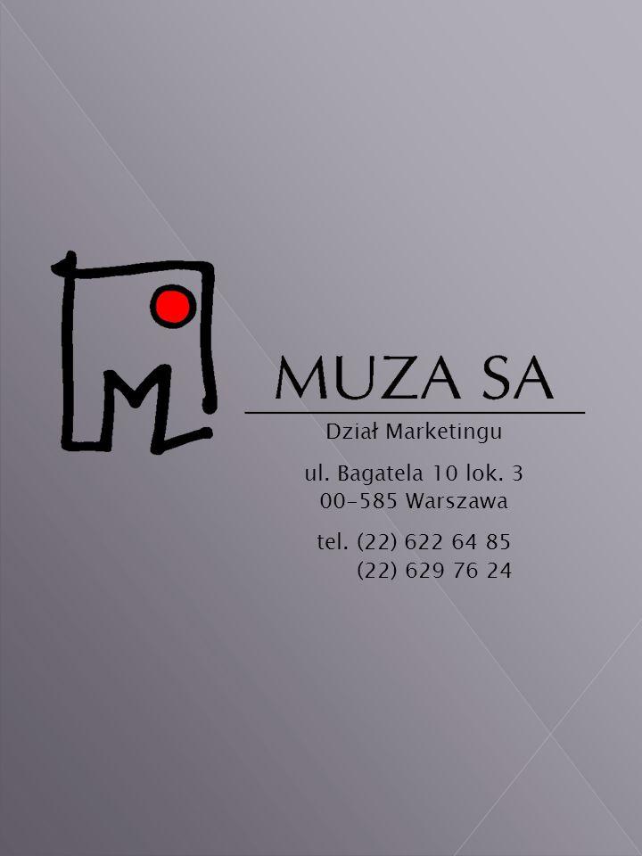 Dział Marketingu ul. Bagatela 10 lok. 3 00-585 Warszawa tel. (22) 622 64 85 (22) 629 76 24