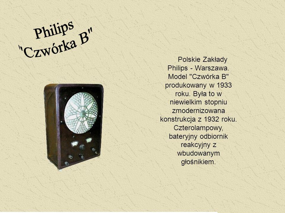 Polskie Zakłady Philips - Warszawa. Model