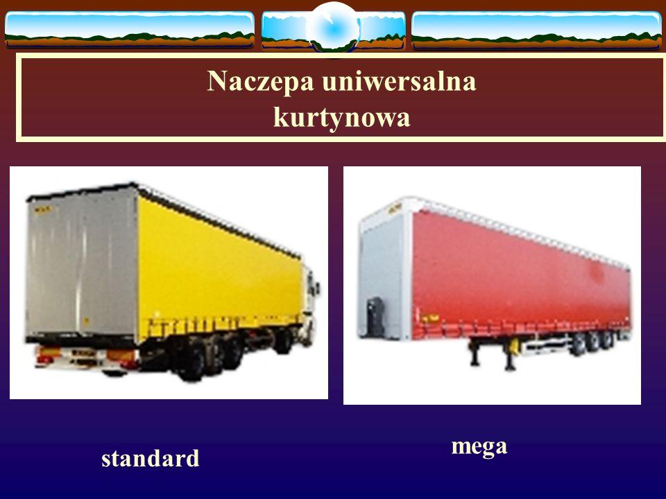 Naczepy uniwersalne skrzyniowo – plandekowa (standard) skrzyniowo – plandekowa (mega)