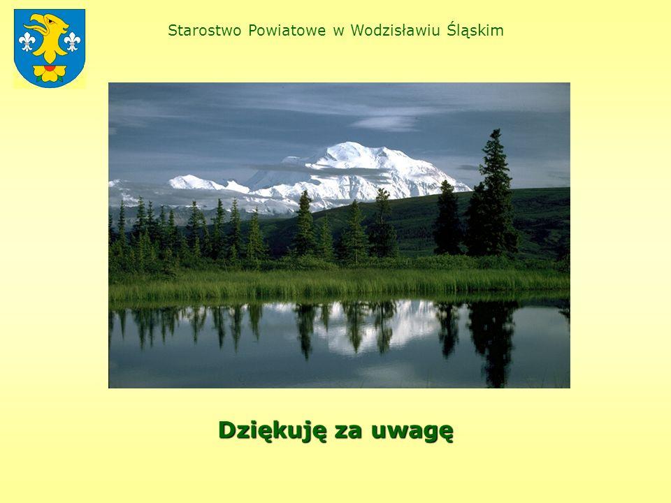 Starostwo Powiatowe w Wodzisławiu Śląskim Dziękuję za uwagę