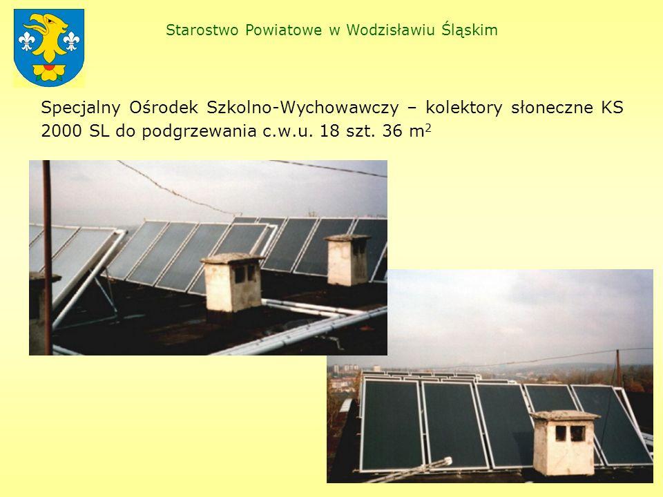 Zespół Szkół Technicznych – kolektory słoneczne KS 2000 SLP do podgrzewania c.w.u.
