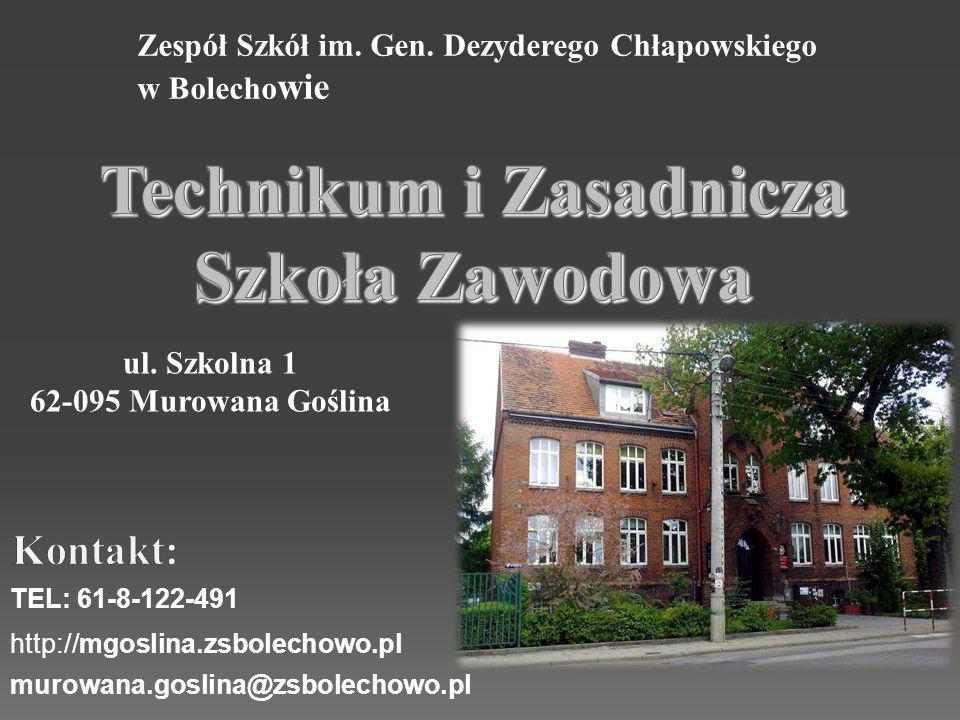 http://mgoslina.zsbolechowo.pl murowana.goslina@zsbolechowo.pl TEL: 61-8-122-491 Zespół Szkół im.