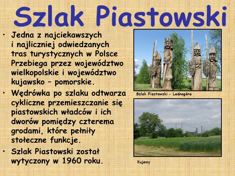 Jedna z najciekawszych i najliczniej odwiedzanych tras turystycznych w Polsce Przebiega przez województwo wielkopolskie i województwo kujawsko – pomor