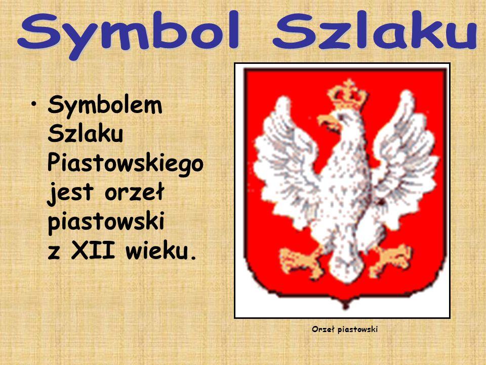 Symbolem Szlaku Piastowskiego jest orzeł piastowski z XII wieku. Orzeł piastowski