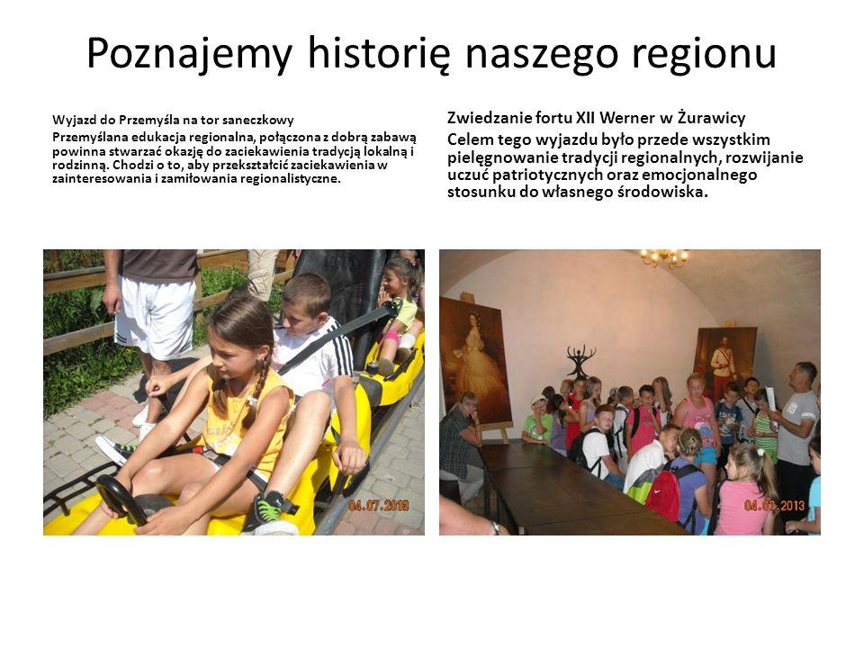 Poznajemy historię naszego regionu Wyjazd do Przemyśla na tor saneczkowy Przemyślana edukacja regionalna, połączona z dobrą zabawą powinna stwarzać ok