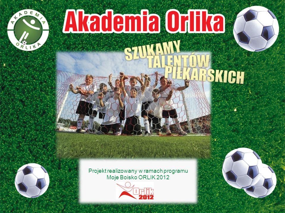 Projekt realizowany w ramach programu Moje Boisko ORLIK 2012 Projekt realizowany w ramach programu Moje Boisko ORLIK 2012