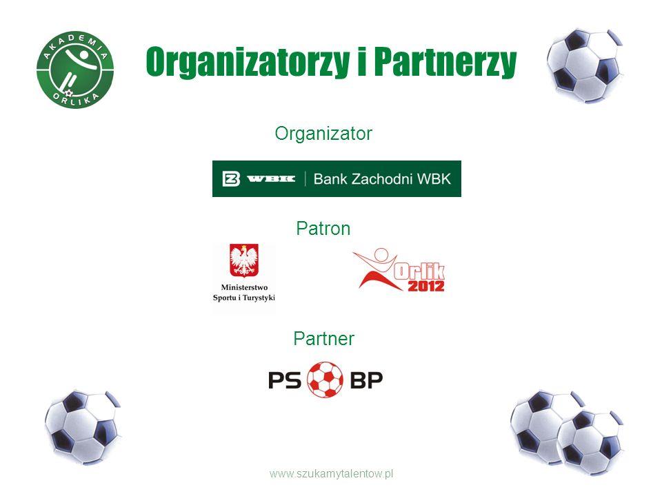 Organizatorzy i Partnerzy Organizator Patron Partner www.szukamytalentow.pl