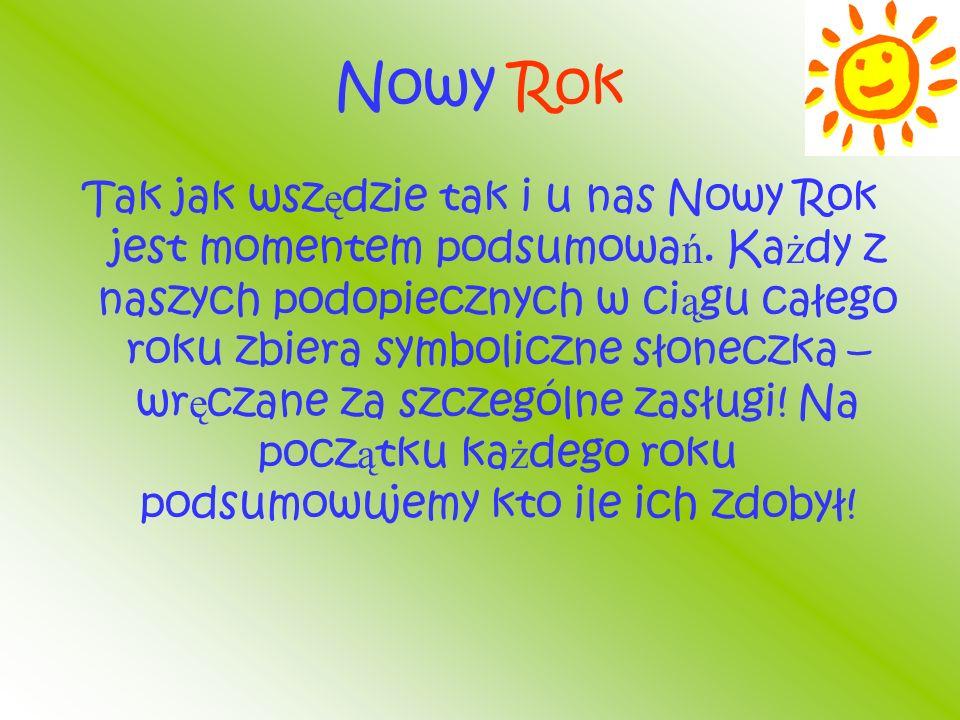 Nowy Rok Tak jak wsz ę dzie tak i u nas Nowy Rok jest momentem podsumowa ń.