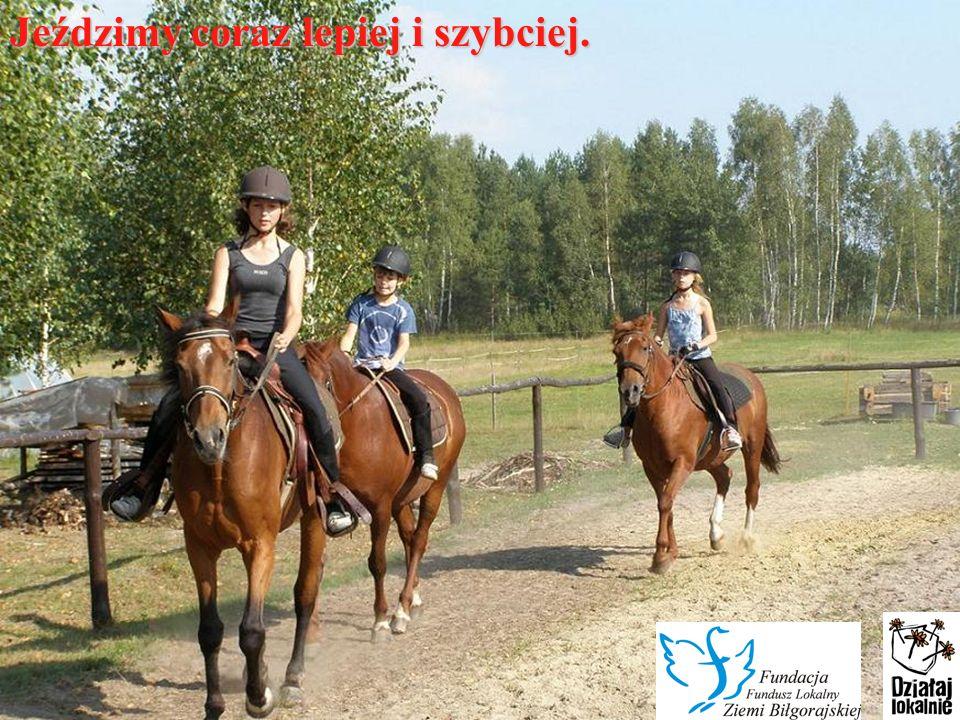 W wakacje przybyło klubowiczów i koni.