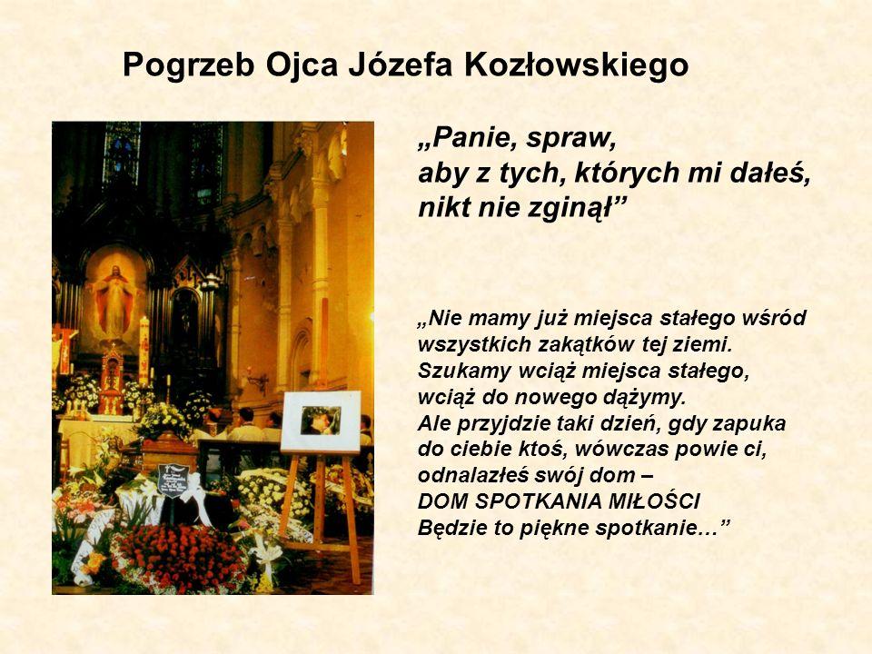 Pogrzeb Ojca Józefa Kozłowskiego Panie, spraw, aby z tych, których mi dałeś, nikt nie zginął Nie mamy już miejsca stałego wśród wszystkich zakątków te